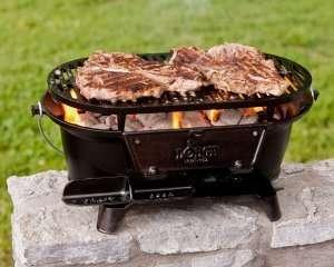 lodge l410 pre seasoned sportsman's charcoal grill